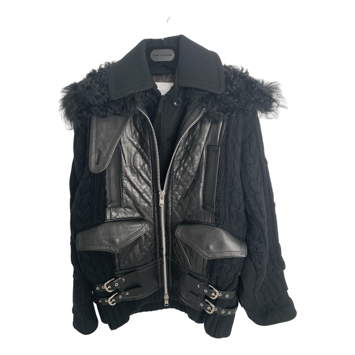 Sacai \N Black Leather Leather jacket for Women 2 0-5