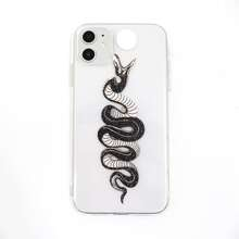 1pc Snake Print iPhone Case