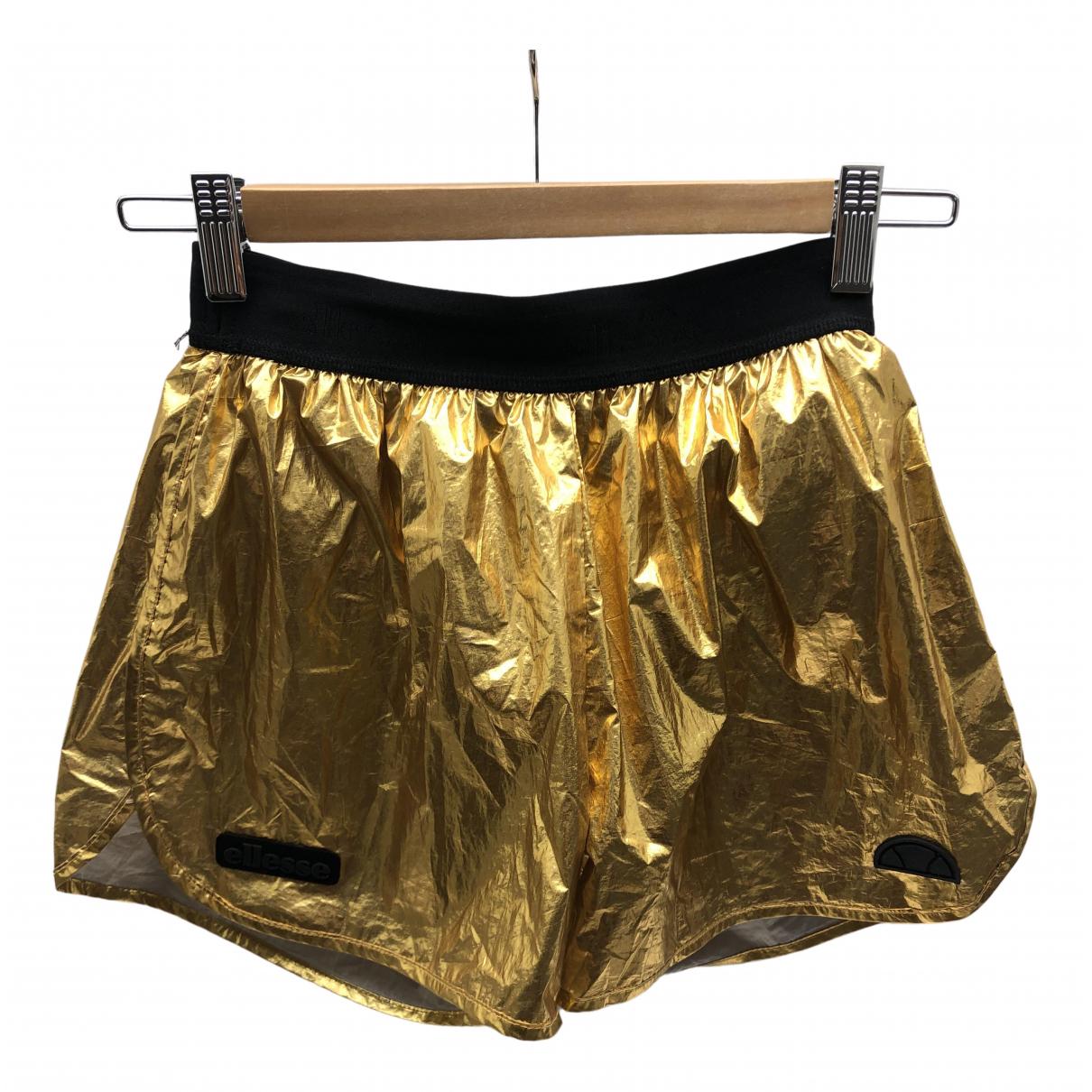 Ellesse \N Shorts in  Gold Polyester