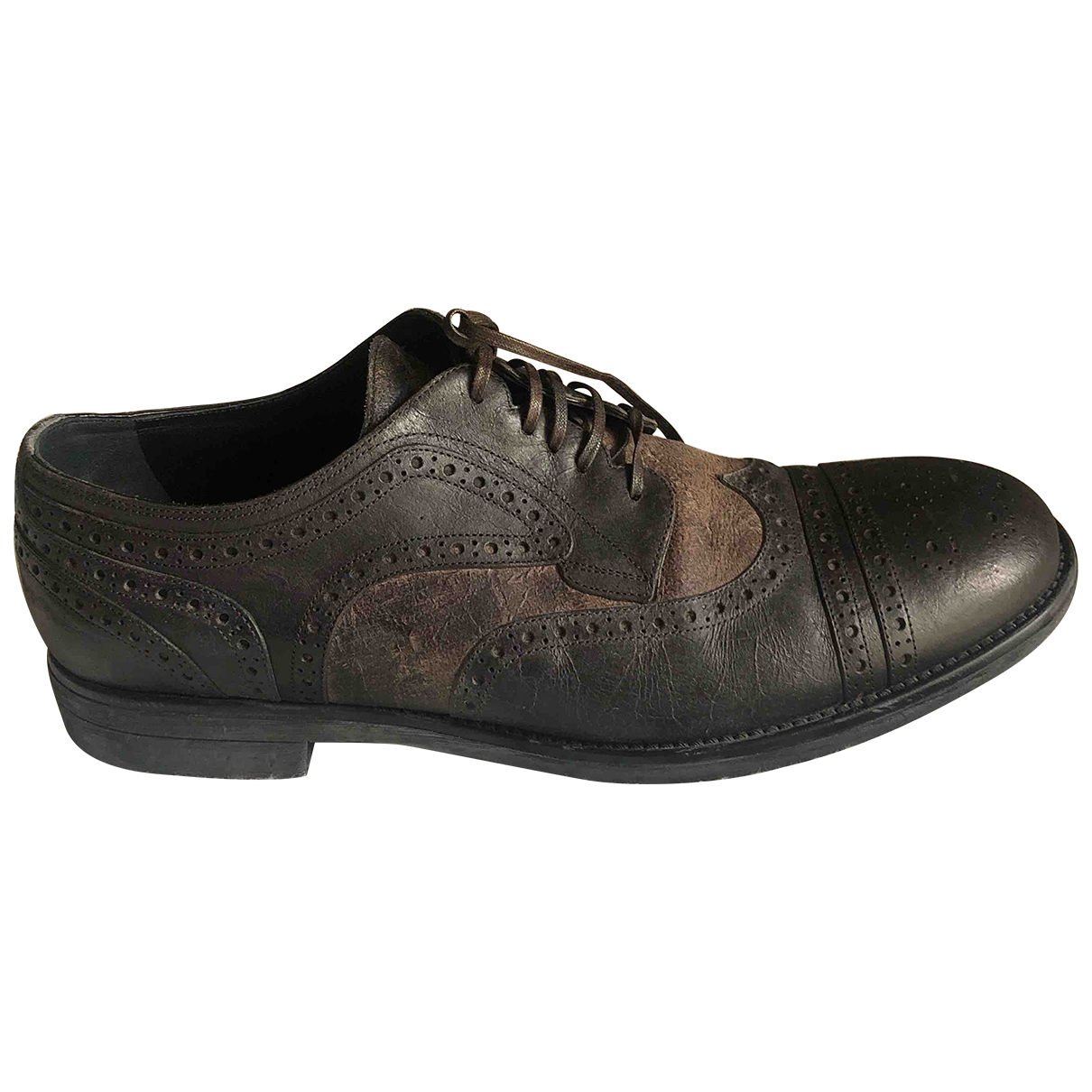 Dolce & Gabbana \N Brown Leather Lace ups for Men 11 US