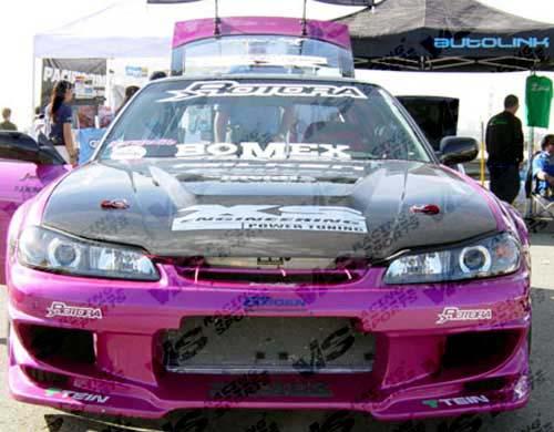VIS Racing 97NS2402DVS-010C Carbon Fiber Invader Hood Nissan 240SX 97-98