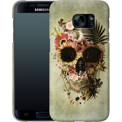 Samsung Galaxy S7 Smartphone Huelle - Garden Skull Light von Ali Gulec