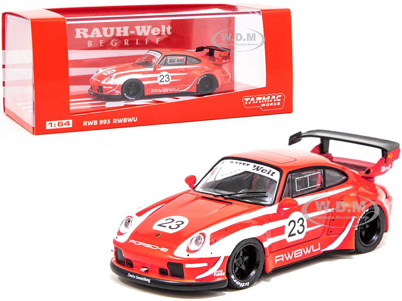 Porsche RWB 993 RWBWU 23 Red with White Stripes