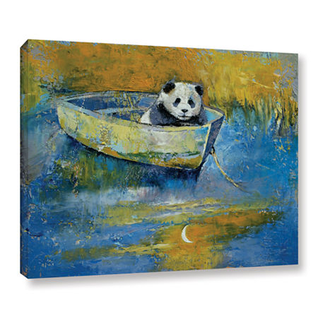 Brushstone Panda Sailor Gallery Wrapped Canvas Wall Art, One Size , Blue
