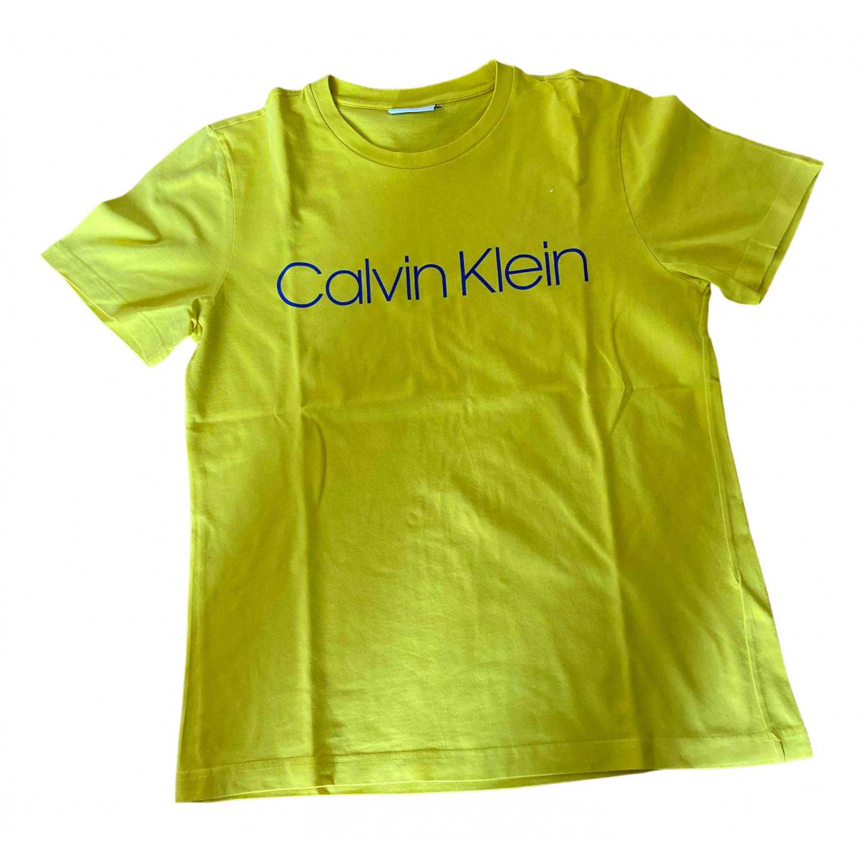 Calvin Klein - Tee shirts   pour homme en coton - jaune