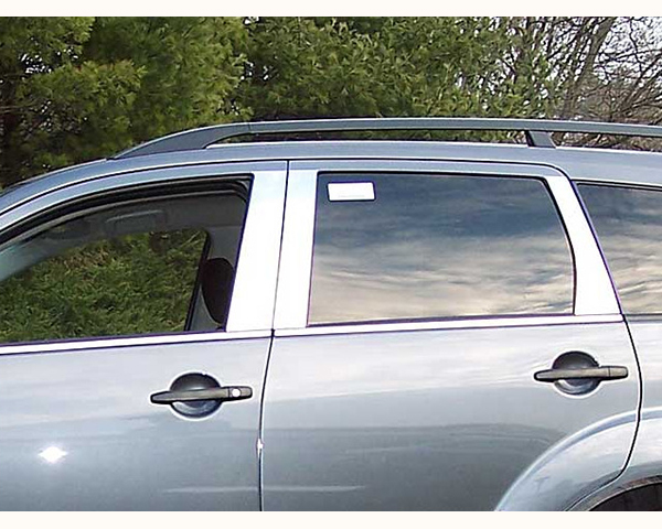 Quality Automotive Accessories 6-Piece Pillar Post Trim Kit Mitsubishi Outlander 2009