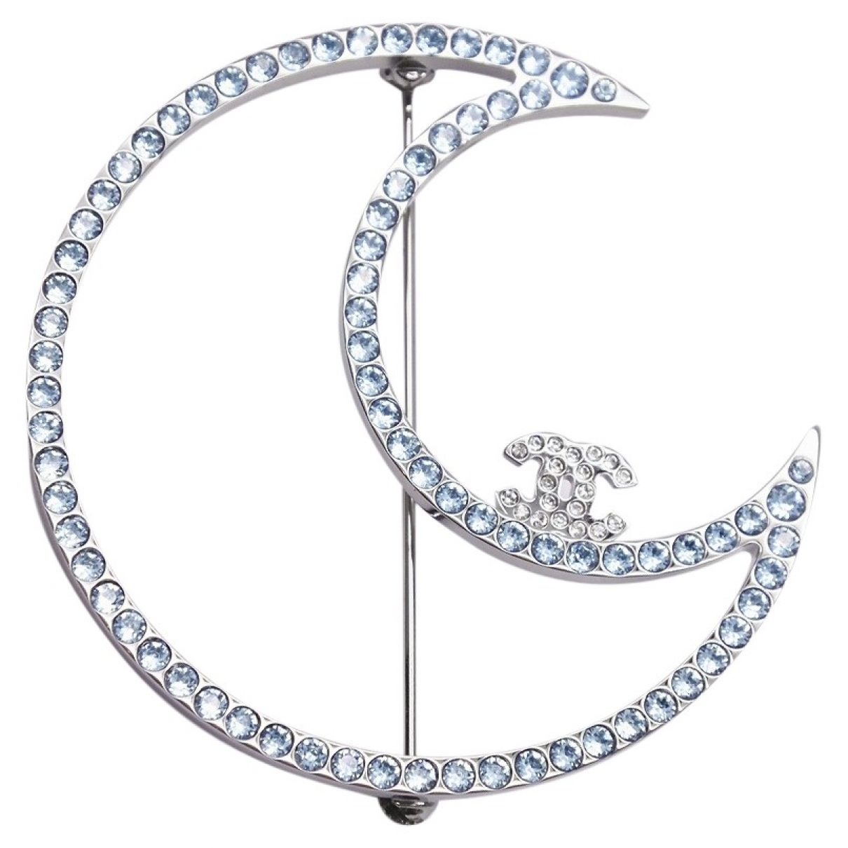 Chanel CC Brosche in  Silber Versilbert