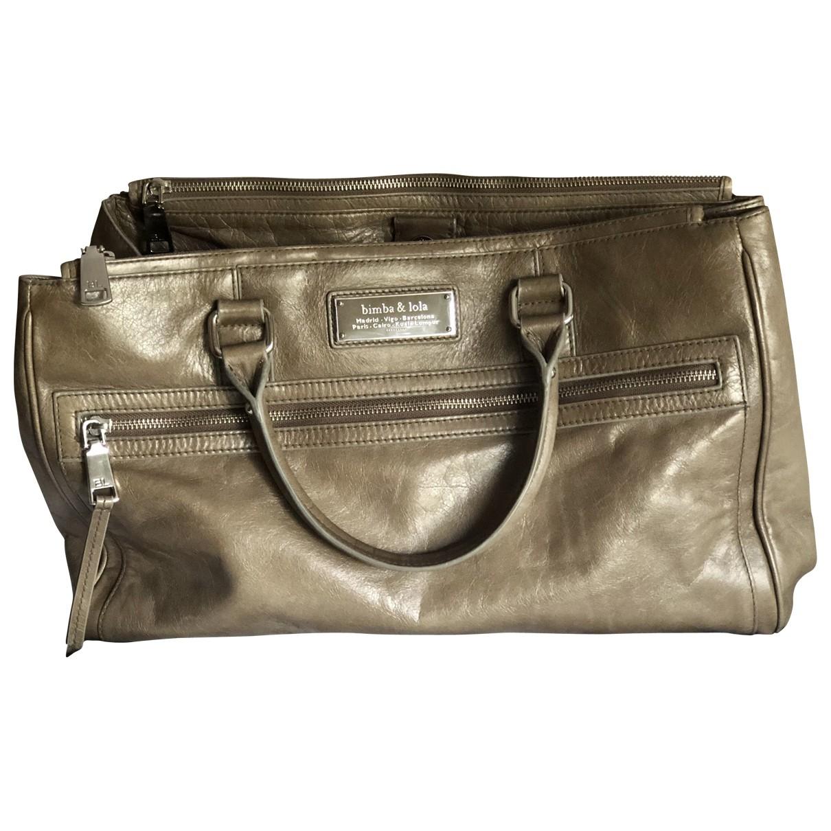 Bimba Y Lola \N Handtasche in  Khaki Leder