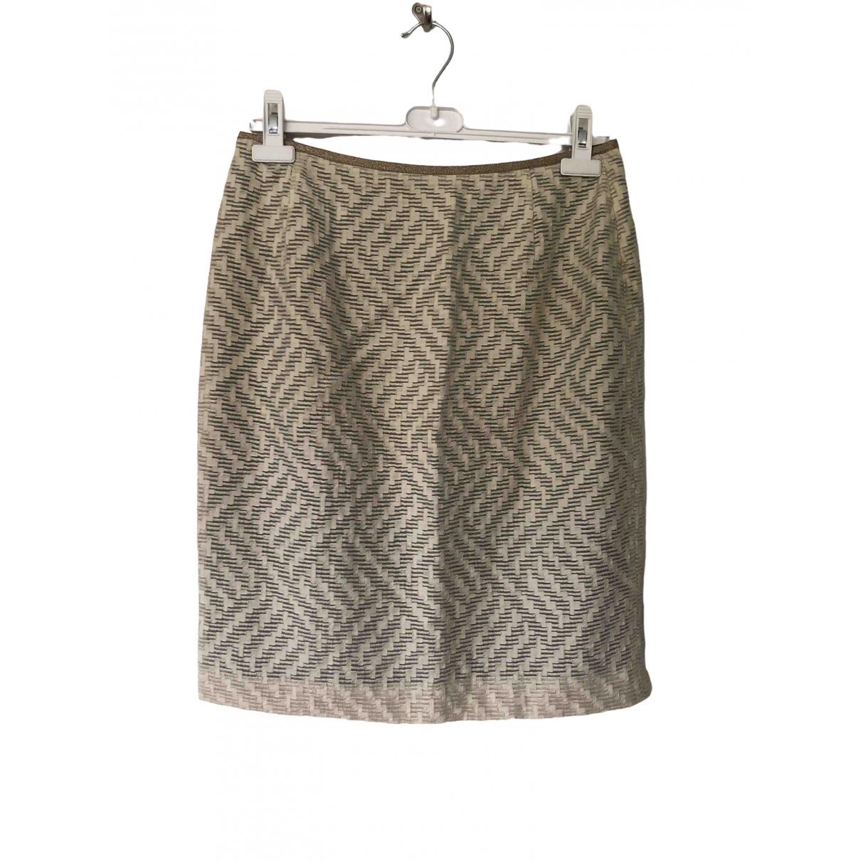Non Signé / Unsigned \N Ecru skirt for Women 38 FR