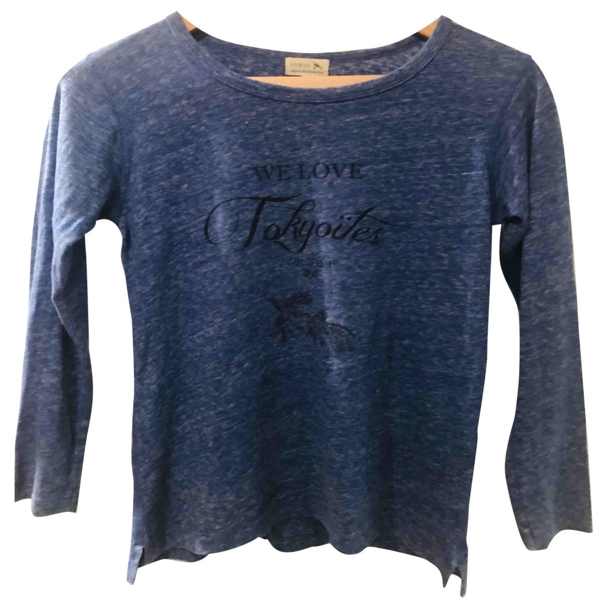 Soeur - Top   pour femme en coton - bleu