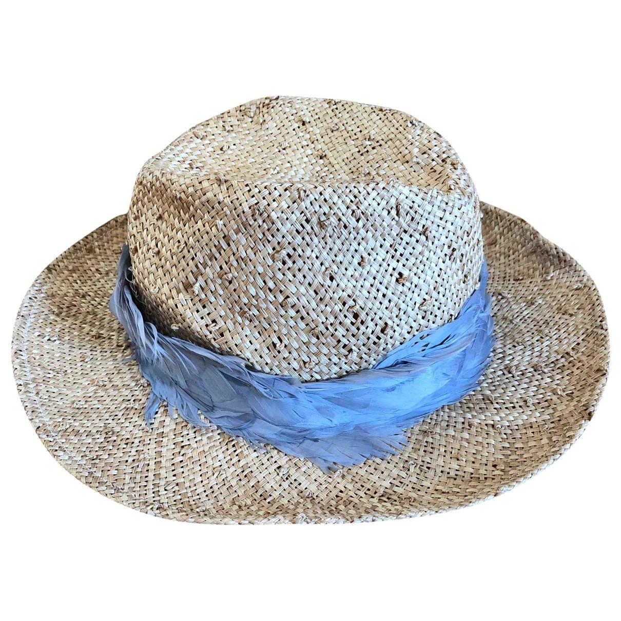 Eugenia Kim \N Beige Wicker hat for Women S International