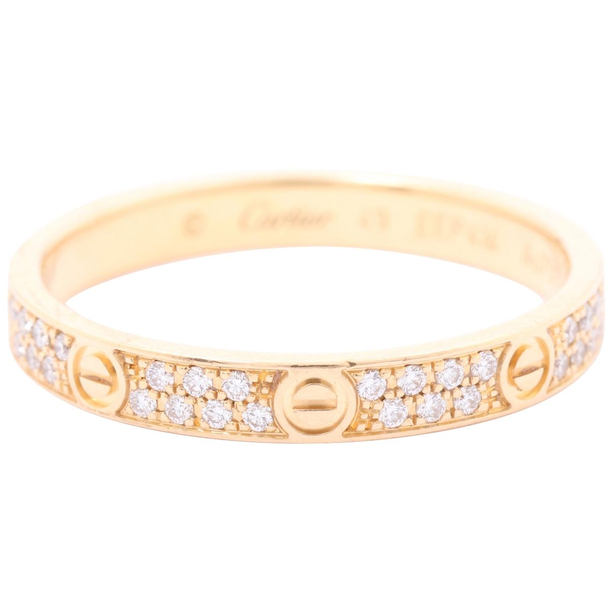 Cartier Love Gold Yellow gold ring for Women 49 EU