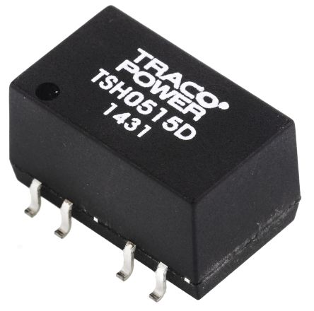 TRACOPOWER TSH 2W Isolated DC-DC Converter Surface Mount, Voltage in 4.5 → 5.5 V dc, Voltage out ±15V dc