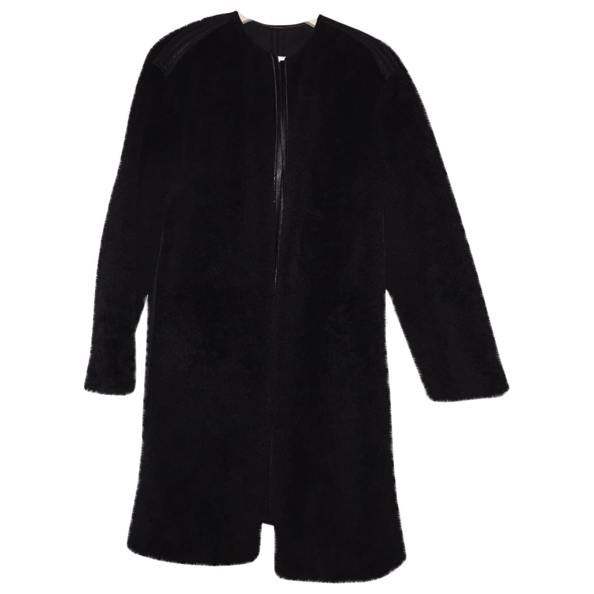 Celine \N Black Fur coat for Women 36 FR