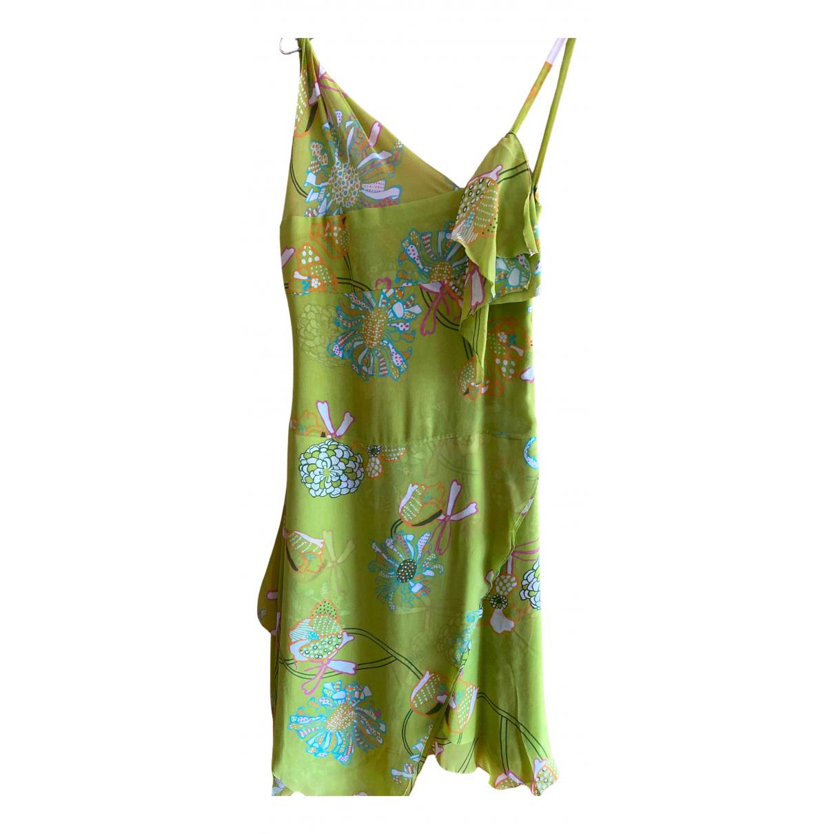 Cacharel N Green Silk dress for Women 38 FR