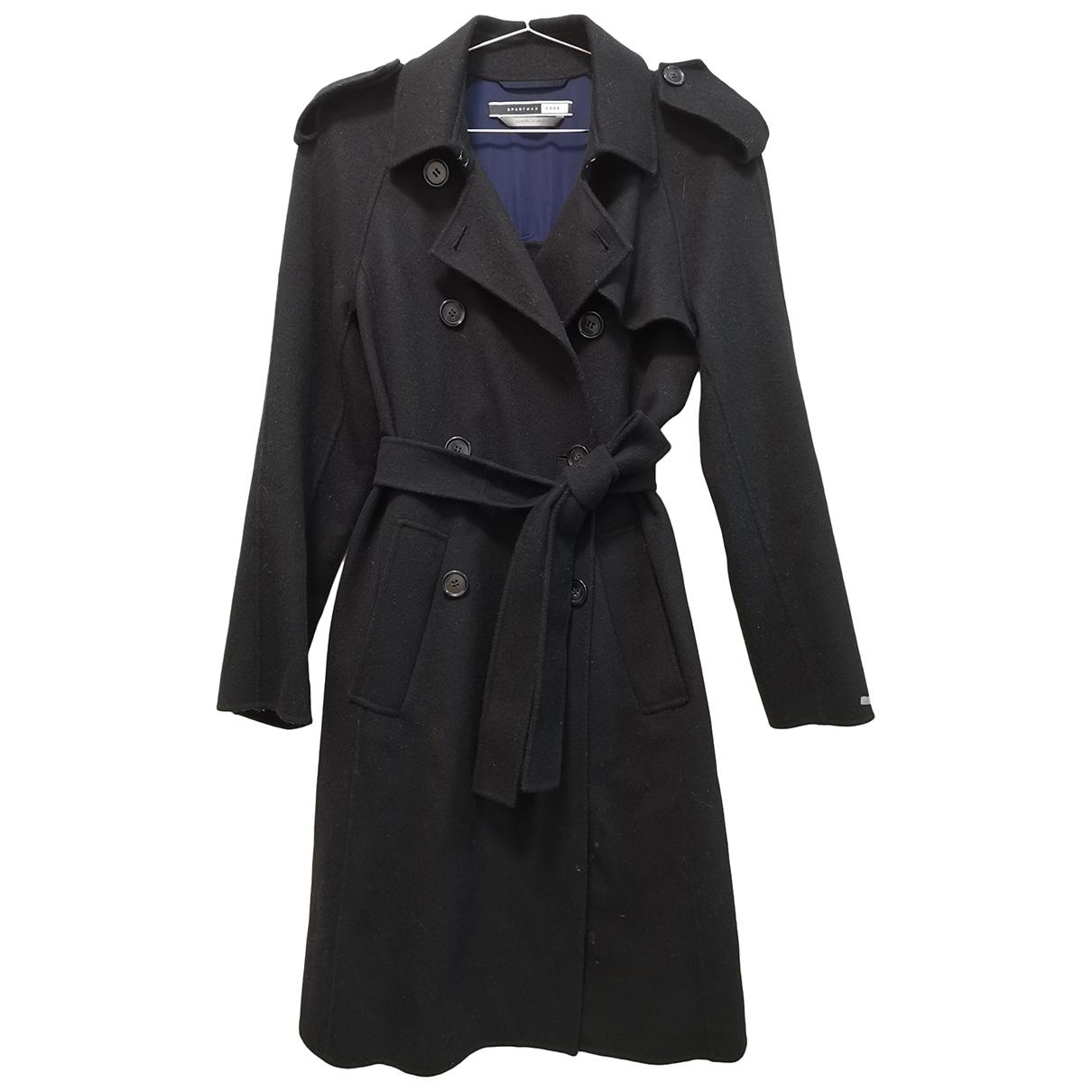 Sport Max - Trench   pour femme en laine - noir