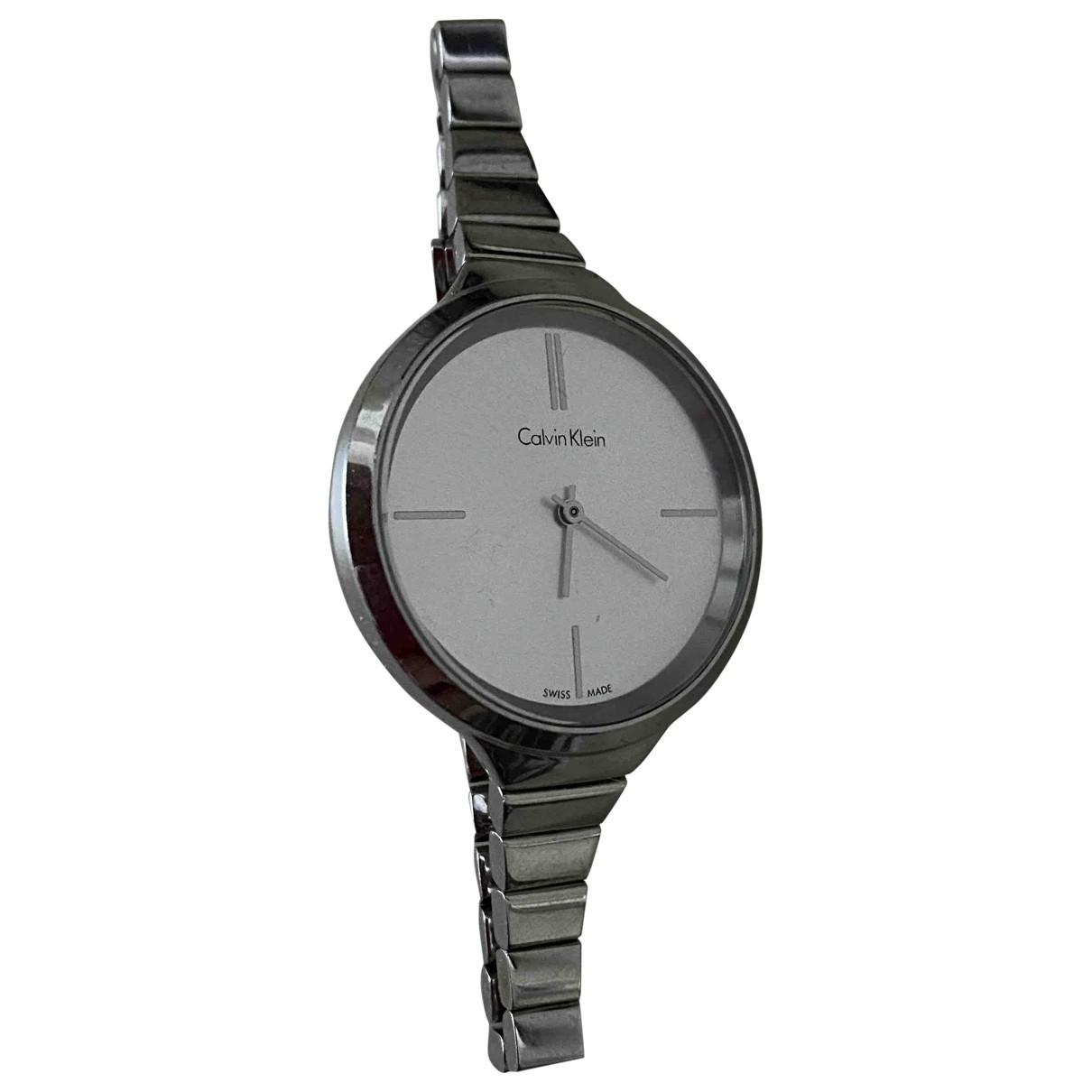 Calvin Klein \N Uhr in  Metallic Stahl