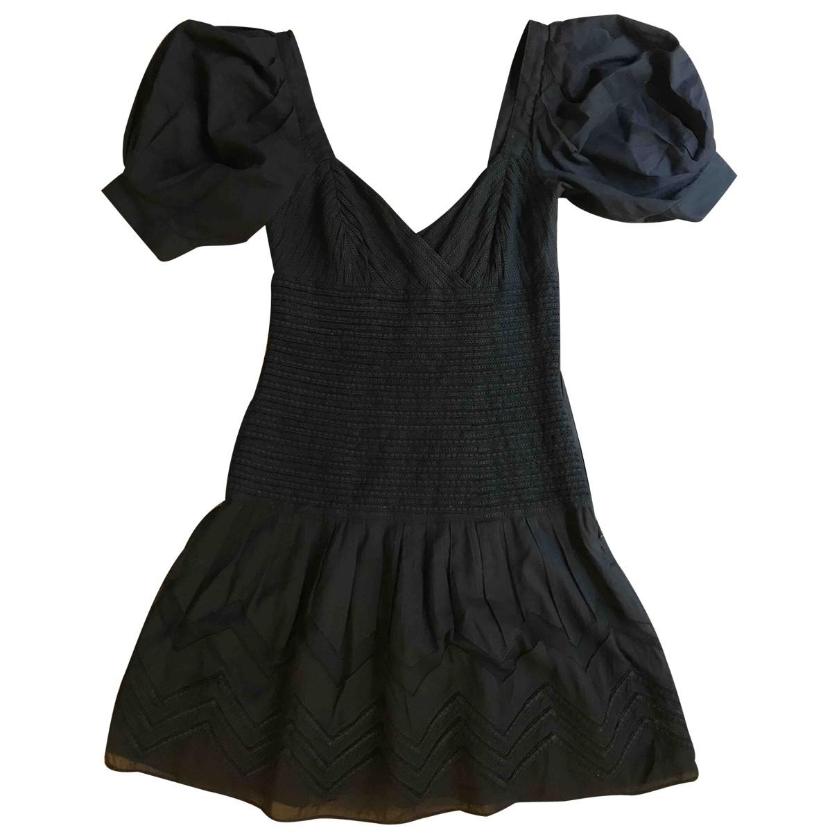 Catherine Malandrino \N Kleid in  Schwarz Baumwolle