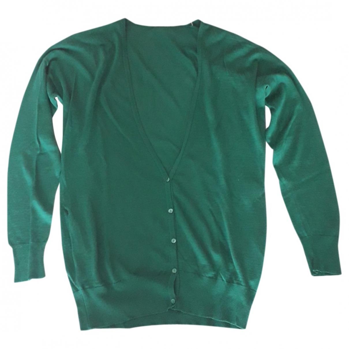 Non Signé / Unsigned \N Green Wool Knitwear for Women M International