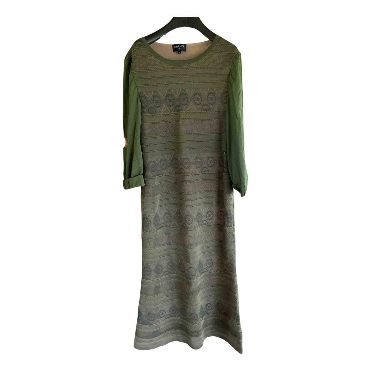 Chanel \N Kleid in  Khaki Seide