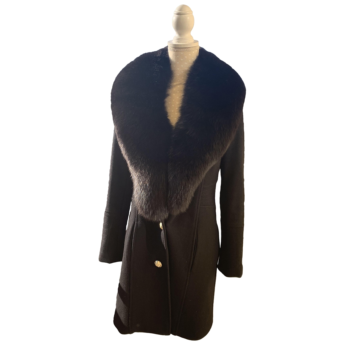 Flavio Castellani \N Black Cashmere coat for Women 40 IT