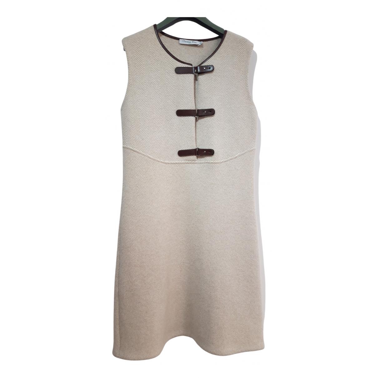 Dior - Robe   pour femme en laine - beige
