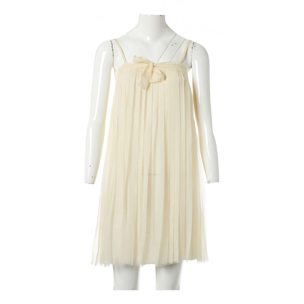 Chanel \N Ecru Silk dress for Women 36 FR