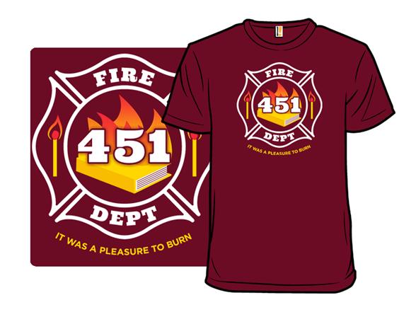 Fire Dept 451 T Shirt