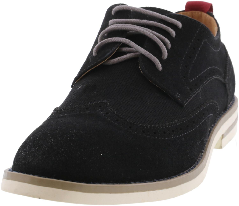 Steve Madden Women's Lanstr Suede Black Ankle-High Oxford - 7.5M