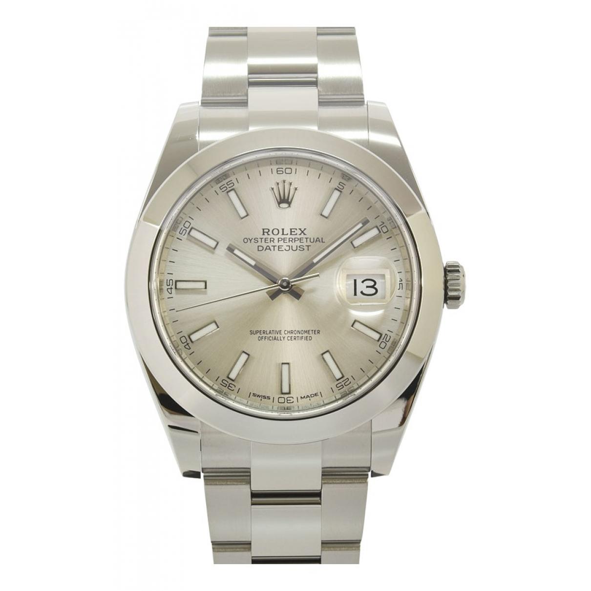 Rolex DateJust II 41mm Silver Steel watch for Men N