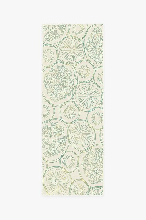 Washable Rug Cover | Fruit Punch Lime Rug | Stain-Resistant | Ruggable | 2.5'x7'