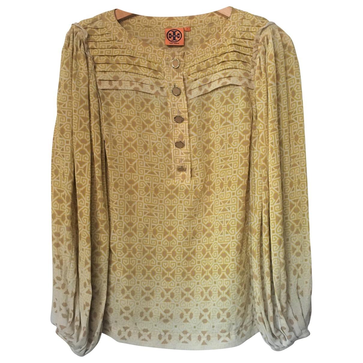 Tory Burch \N Yellow Silk  top for Women 4 US