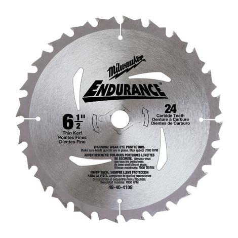 Milwaukee 6-1/2 in. 24 Carbide Teeth Circular Saw Blade