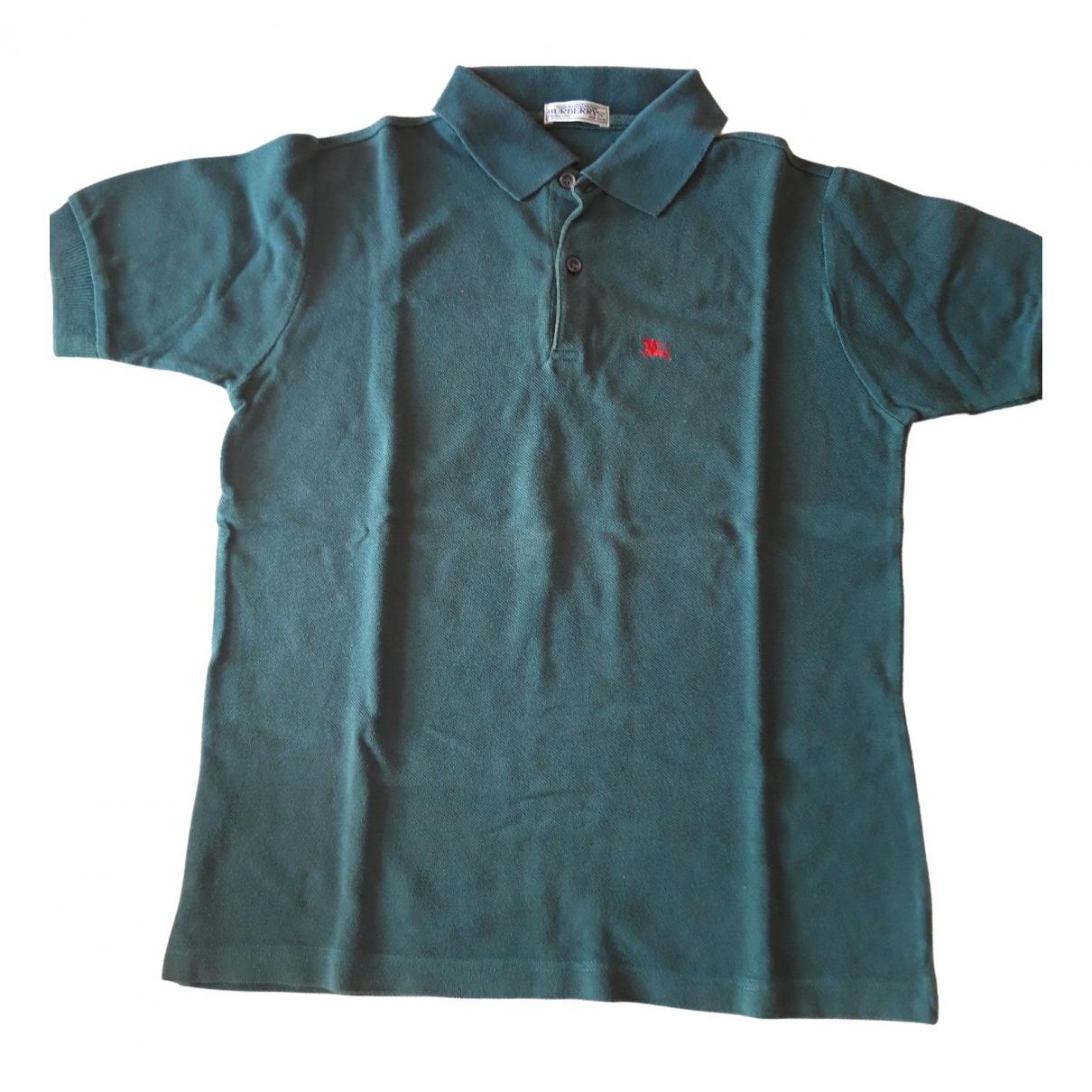 Camisetas en Algodon Verde Burberry