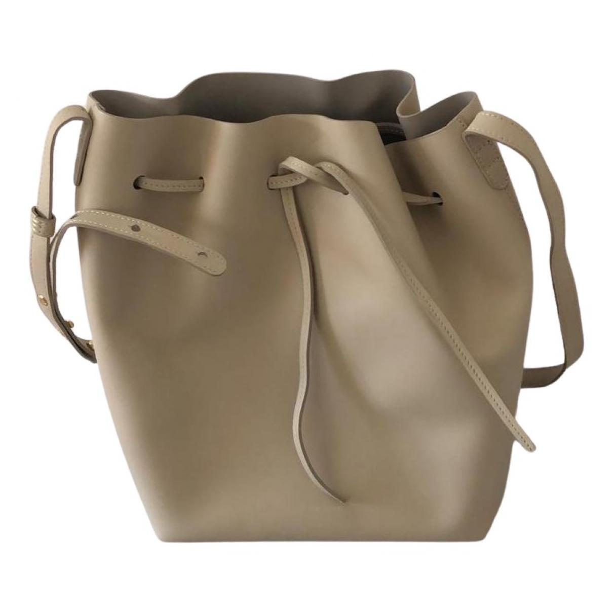 Mansur Gavriel Bucket Handtasche in  Ecru Leder