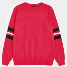 Pullover mit Streifen an Ärmeln