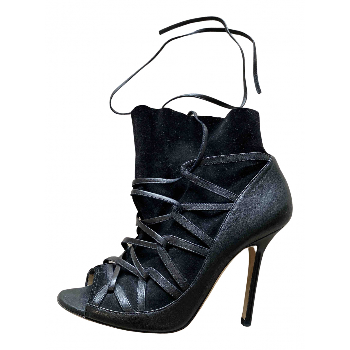 Jimmy Choo N Black Leather Ankle boots for Women 35.5 EU