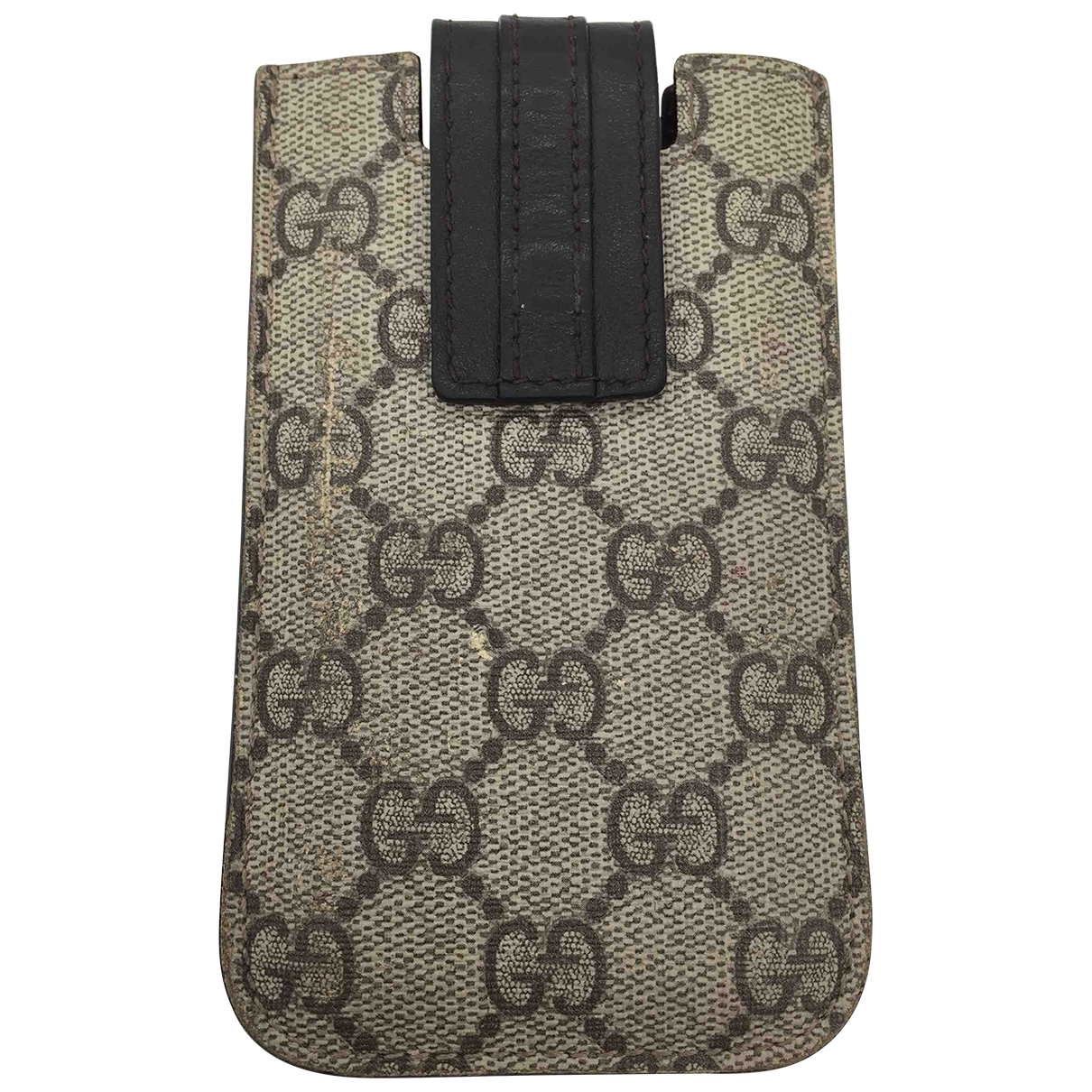 Gucci - Petite maroquinerie   pour femme en toile - gris