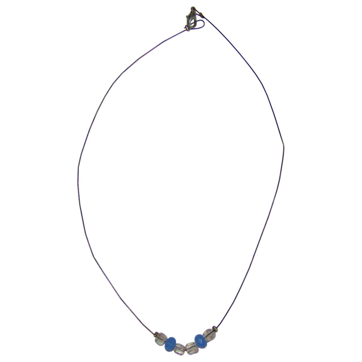 - Collier   pour femme en metal - bleu
