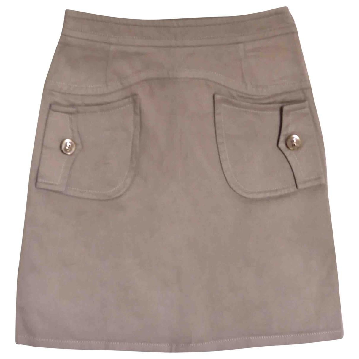 Red Valentino Garavani \N Beige Cotton skirt for Women 36 FR