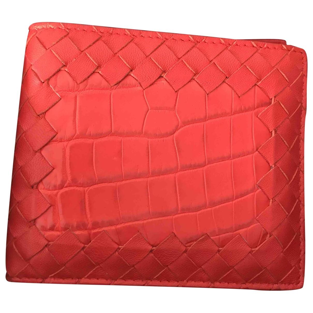 Bottega Veneta - Petite maroquinerie   pour homme en crocodile - rouge