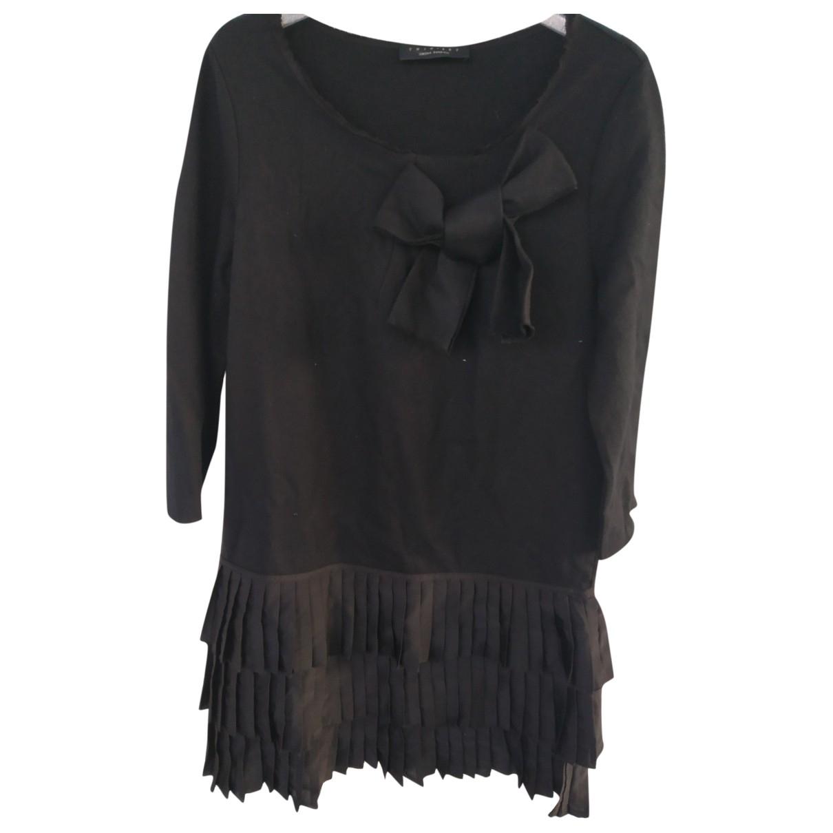 Twin Set \N Kleid in  Schwarz Wolle