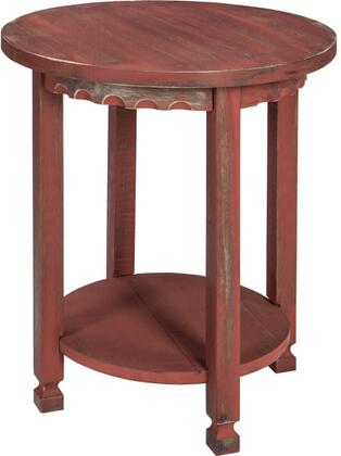 Country Cottage Collection ACCA15RA Round End Table  Red Antique
