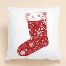 Kissenbezug mit Weihnachten Socken Muster ohne Fuellstoff