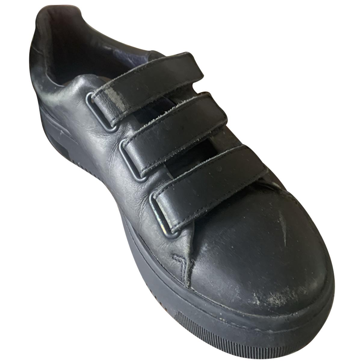 Sandro \N Sneakers in  Blau Leder