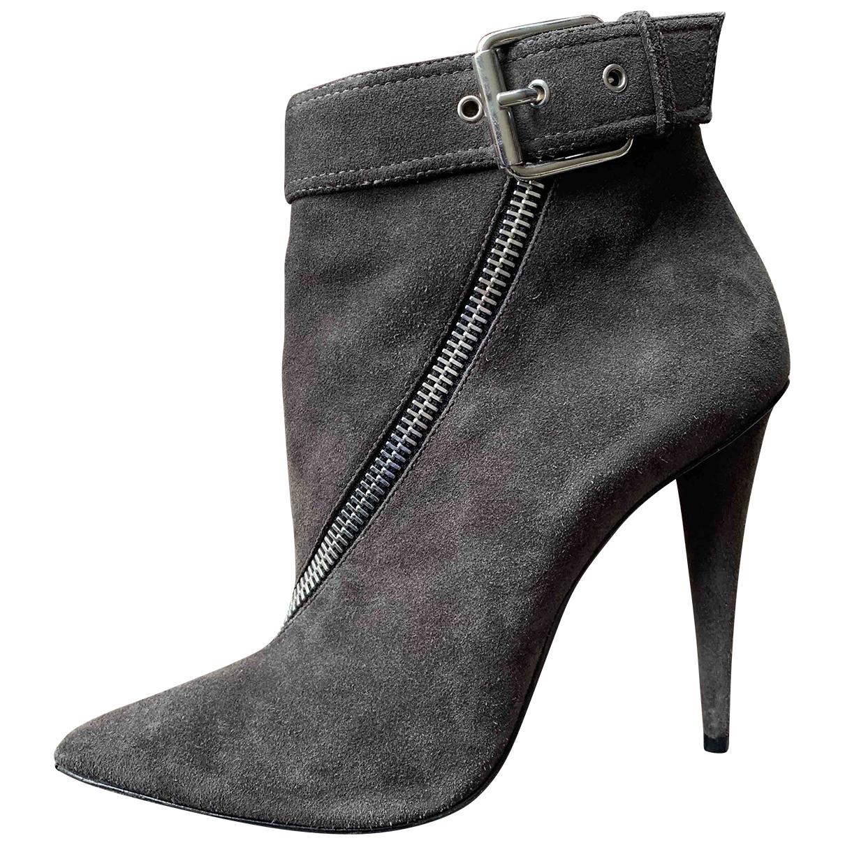 Giuseppe Zanotti - Boots   pour femme en suede - anthracite