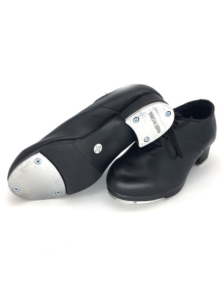 Milanoo Womens Tap Dance Shoes White Aluminum Plate Low Heel Ballroom Shoes