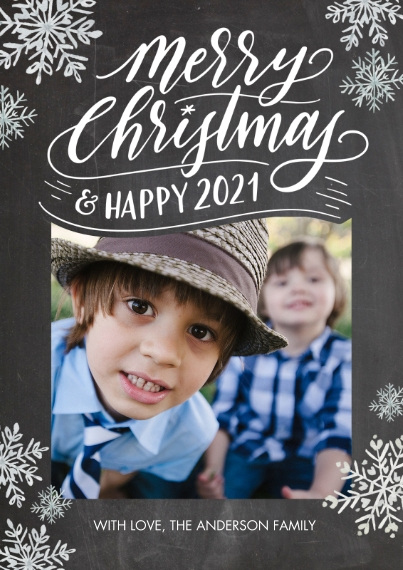 Christmas Photo Cards Flat Matte Photo Paper Cards with Envelopes, 5x7, Card & Stationery -Christmas and Happy 2021 by Tumbalina