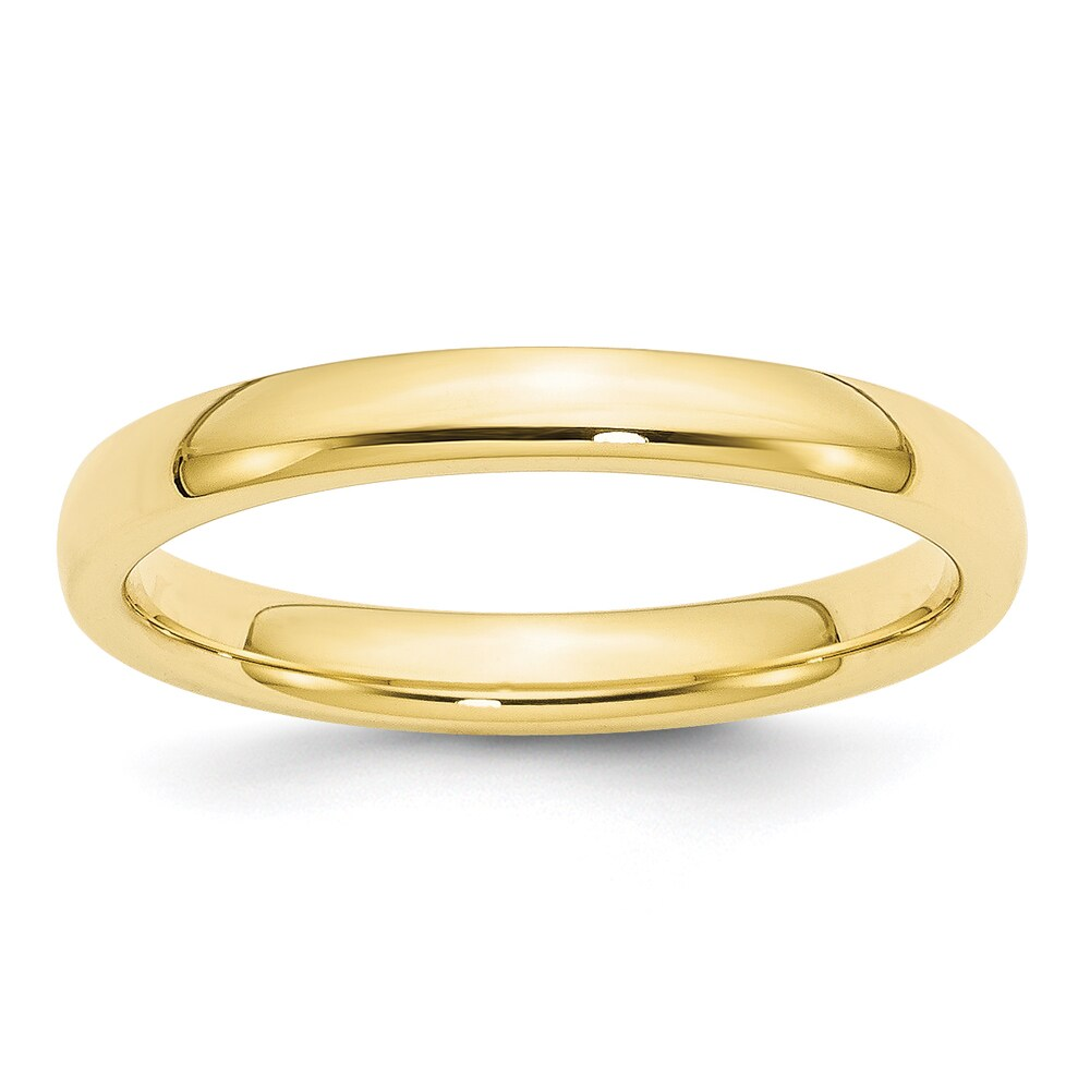 10K Yellow Gold Polished 3mm Comfort Fit Wedding Band by Versil (4)
