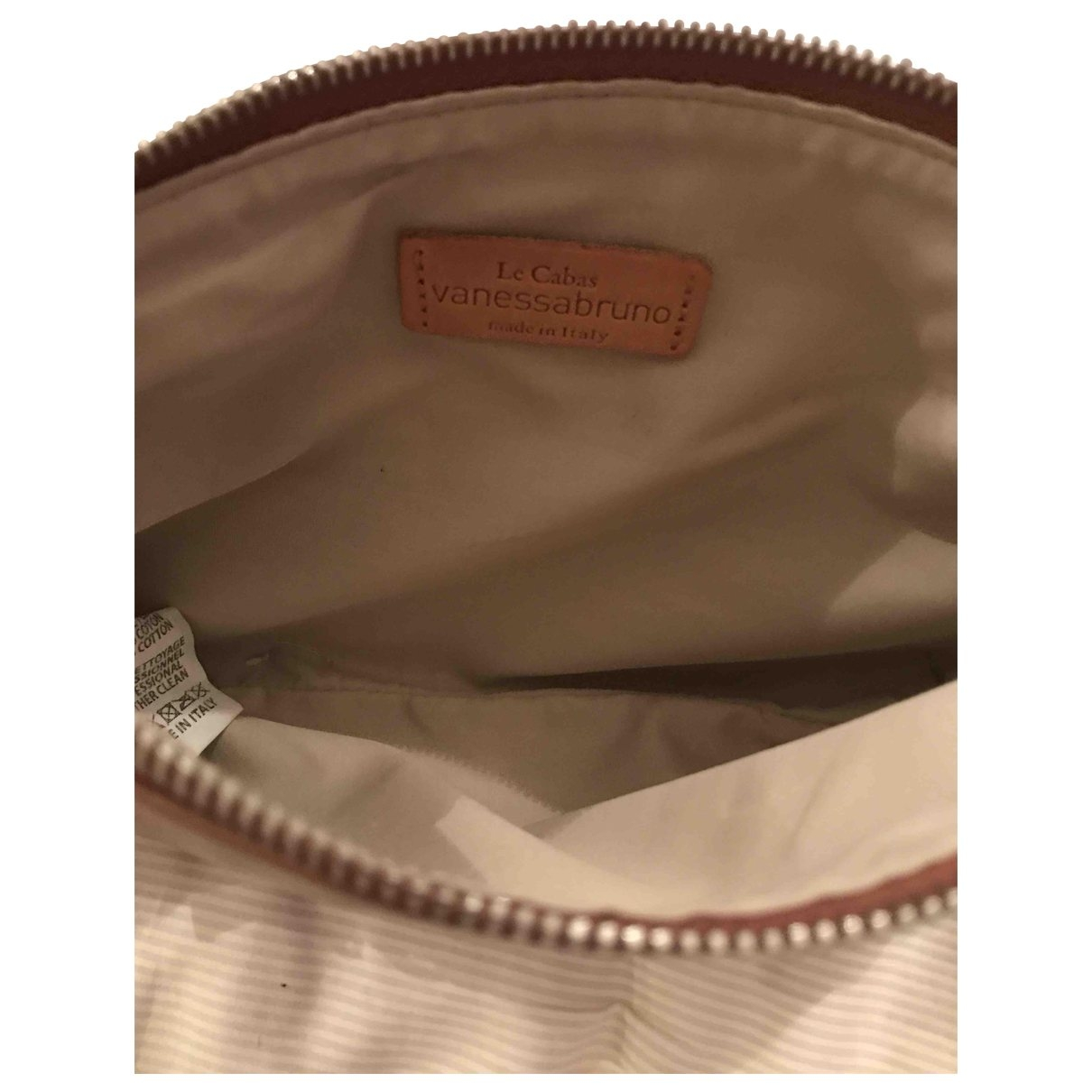 Vanessa Bruno Cabas Beige Leather handbag for Women \N